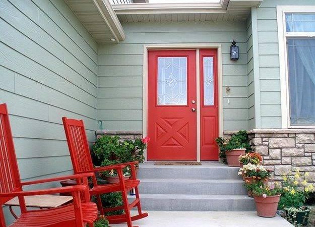 Exterior Doors Door Decoration Red Color
