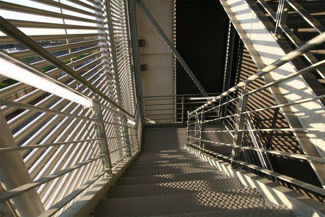 External Escape Staircases Internal Spiral Feature