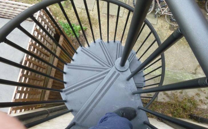External Spiral Staircase Galvanised Black Diameter