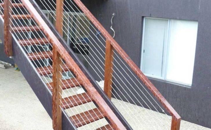 External Staircases Geelong Steel Timber Railings