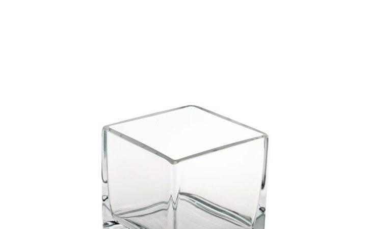 Extra Large Cube Glass Vase Moreton Hire