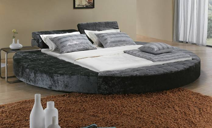 Fabric Bed Unique Queen Beds Round Product