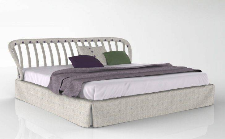 Fabric Double Bed Open Air Twils Design Meneghello Paolelli