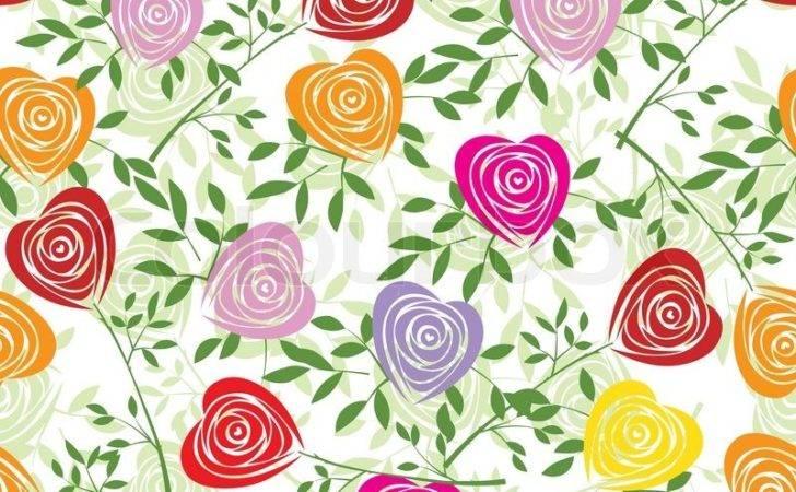 Fabric Texture Floral Vintage Design Ziemlich Niedlich Tapeten