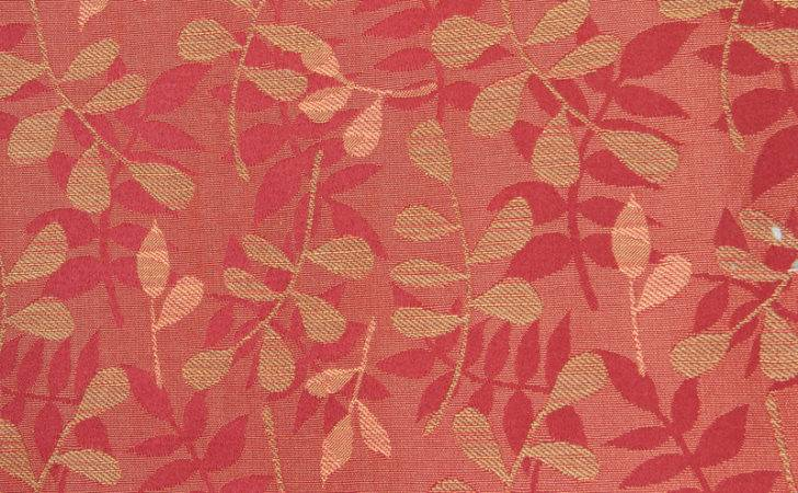 Fabric Texture Red Leaf Pattern Floral Print Design