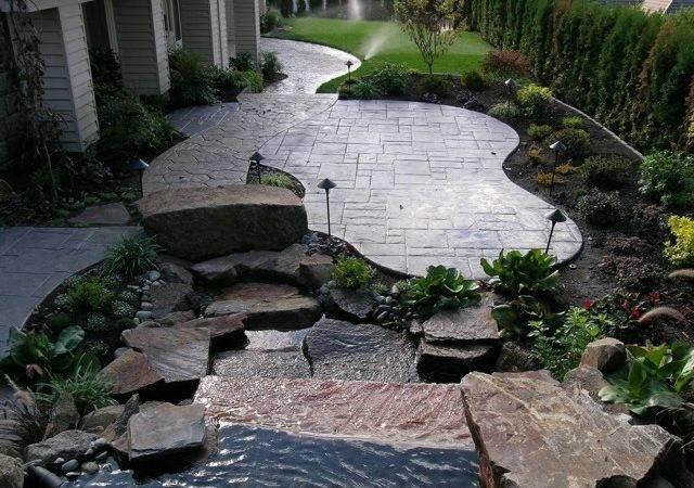 Fabulous Stamped Concrete Back Yard Patio Ideas