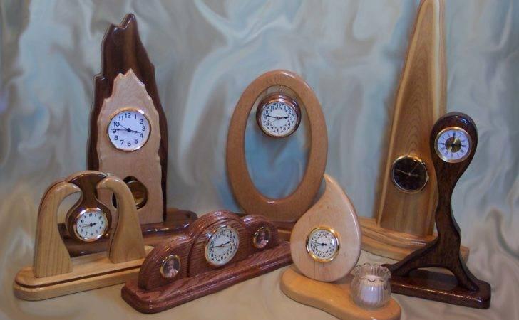 Fabulous Wood Desk Clock Designs Home Design Styles Interior