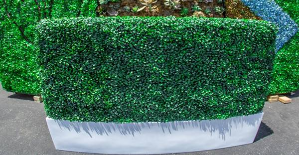 Fake Hedge Fiberglass Planter