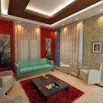 False Ceiling Modern Living Room Interior Designs