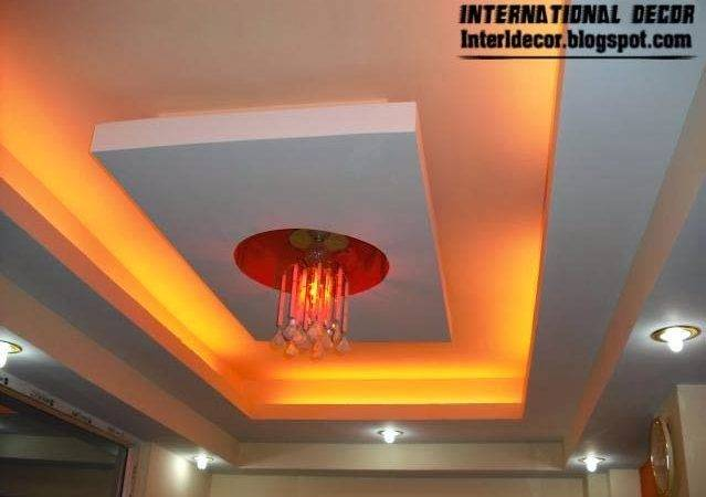 False Ceiling Pop Designs Led Lighting Ideas