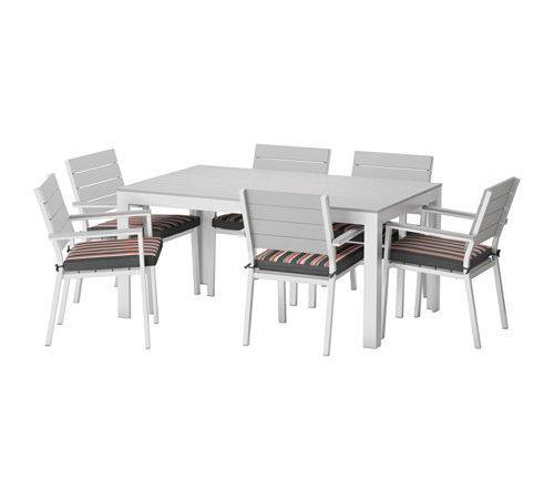 Falster Table Armchairs Outdoor Gray Eker Black Ikea