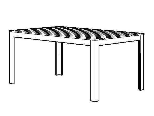 Falster Table Chaises Accoud Ext Rieur Brun Noir Eker