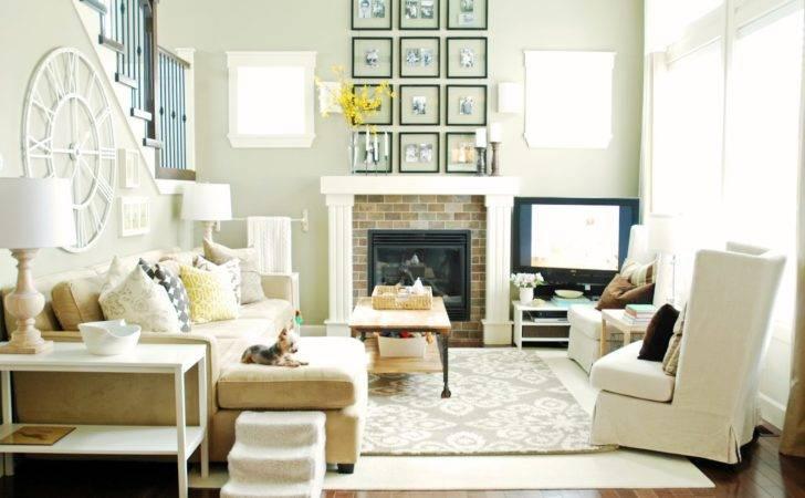 Fancy Interior Feng Shui Living Room Comfortable White Sofa