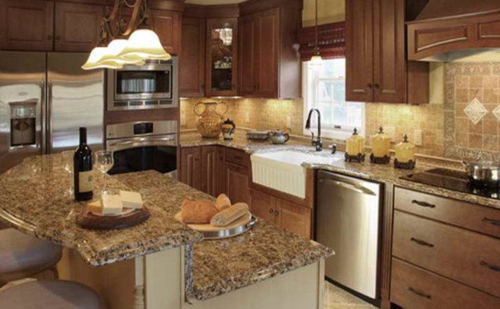 Fancy Kitchen Craft Cabinet Granite Countertop