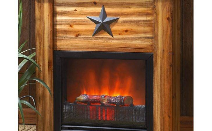 Fans Fireplaces Guide Gear Rustic Concealment Electric Fireplace