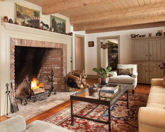 Farmhouse Hearth Room Fireplace Home Design Photos Decor Ideas