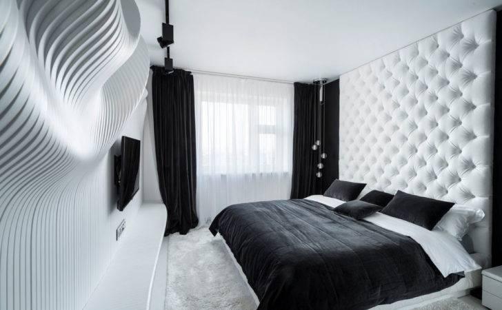 Fascinating Bedroom Design Ideas Using White Black