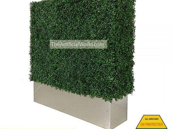 Faux Boxwood Hedge Divider Wall Planter Box Artificial