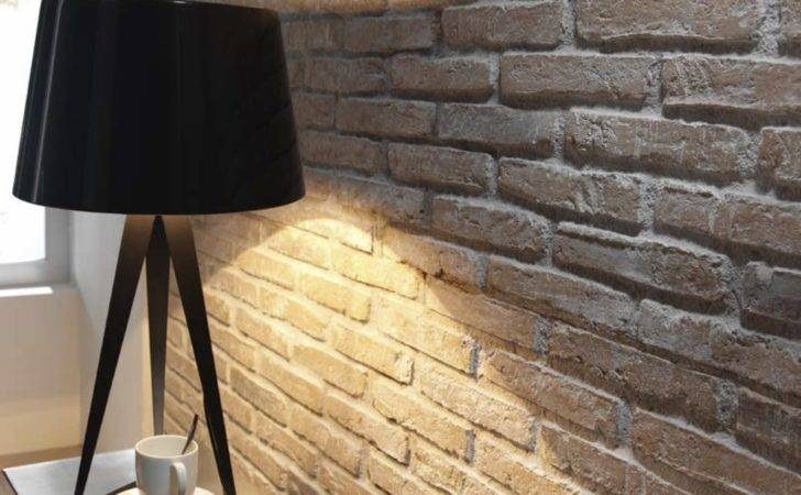 Faux Brick Wall Panels Earthy Whitewashed Rustic