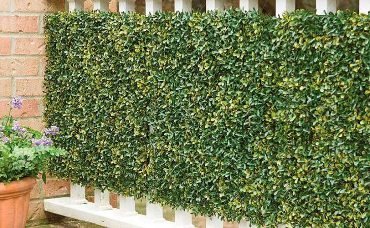 Faux Greenery Outdoor Privacy Panels Green Head