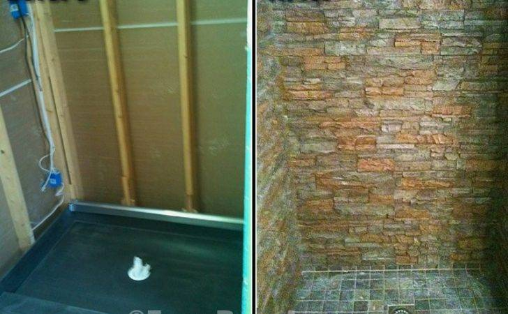 Faux Stone Bathroom Showers Great Way Enhance Your Home