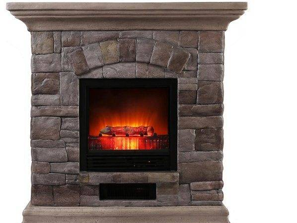 Faux Stone Portable Fireplace Large Rustic Tabletop Fireplaces