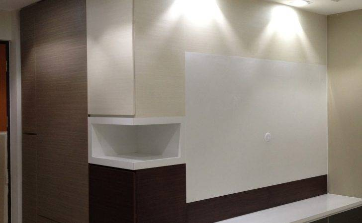 Feature Wall Cum Shoe Cabinet