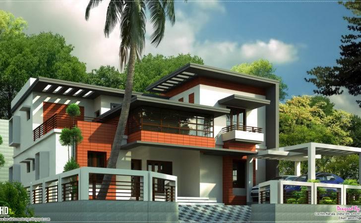 Feet Contemporary Home Design Kerala Floor Plans