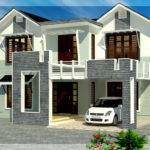 Feet Sloping Roof Bedroom House Kerala Home Design Floor Plans