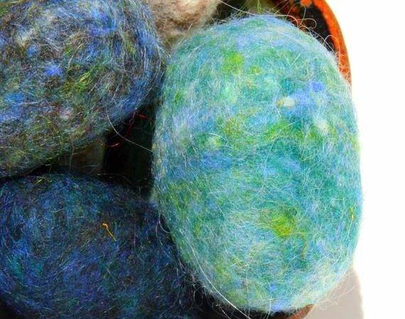 Felted Soap Stones Wool