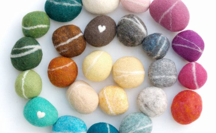 Felted Stones Needle Wool Assorted Colors