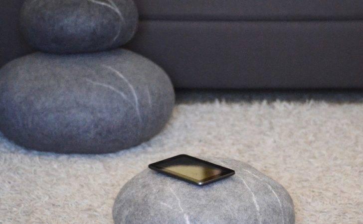 Felted Wool Stones Gadget Flow