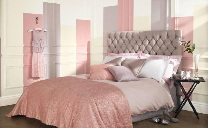 Feminine Pink Natural Bedroom Painted Crown Matt Emulsion