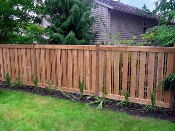 Fence Designs Cedar Custom Design Styles