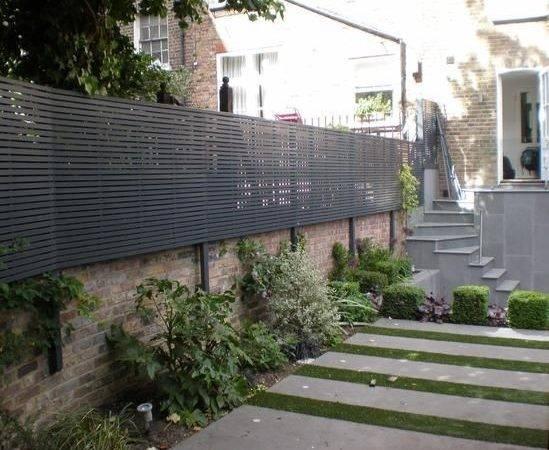 Fence Horizontal Louver Hardwood Slats Fencing Google Search