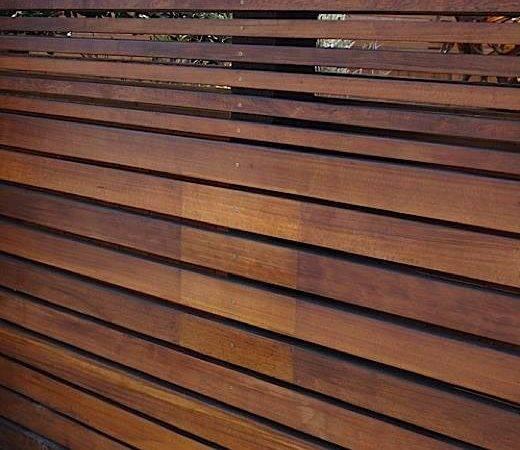Fence Horizontal Slats Ipe Neighborhood Nursery