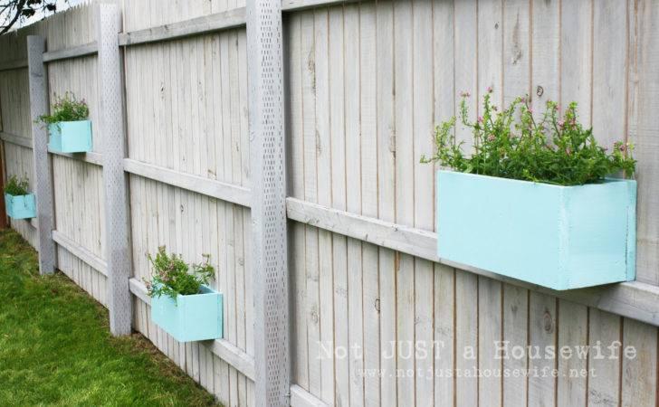 Fence Into Plant Shelf Omahdesigns