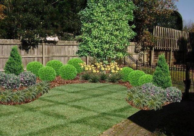 Fence Line Landscaping Idea Landscape Ideas Pinterest