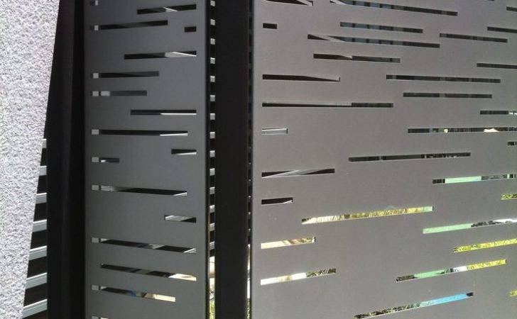 Fence Metal Modern Gates Fences Privacy Outdoor