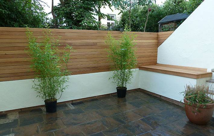Fence Used Balau Decking Boards Make Stunning Contemporary