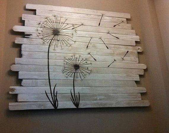 Fence Wood Dandelion Painting Paint