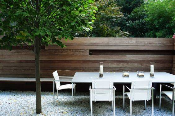 Fence Wood Fences Outdoor Dining Tables Pinterest