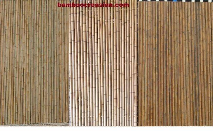 Fencing Wood Fence Bamboo Rolled Cane