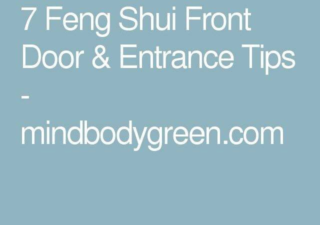 Feng Shui Front Door Entrance Tips Home