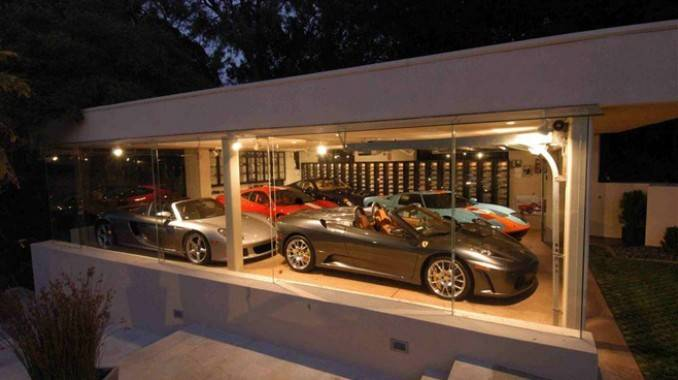 Ferris Bueller Glass Garage Exotic Car Collection Dream