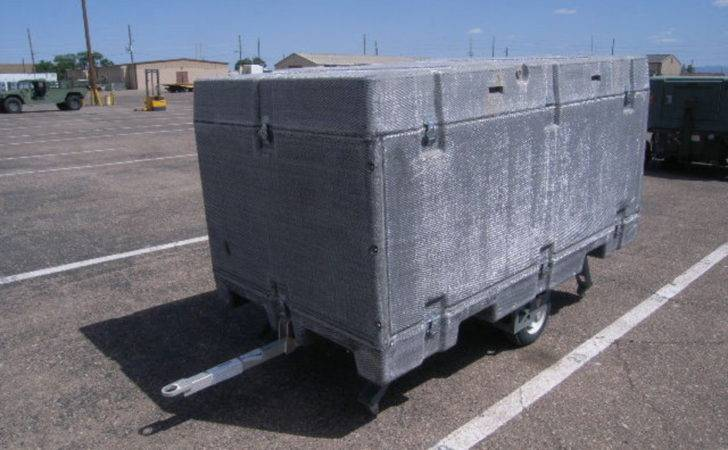 Fiberglass Mobile Shipping Storage Container Folding Wheels