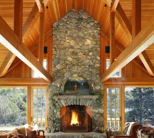 Fieldstone Fireplace Houzz
