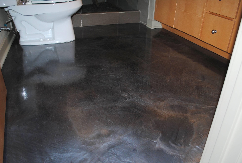 Finished Metallic Epoxy Bathroom Floor