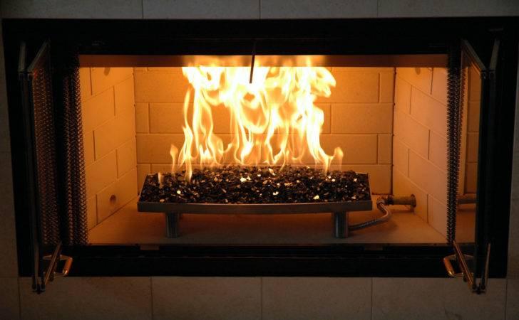 Fire Glass Fireplace Burner Pan