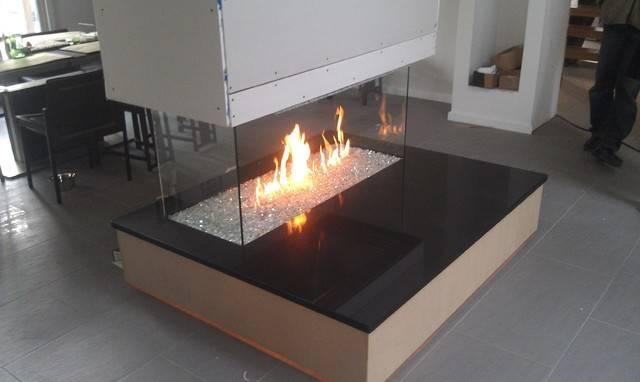 Fireglass Fireplace Contemporary Indoor Fireplaces New York